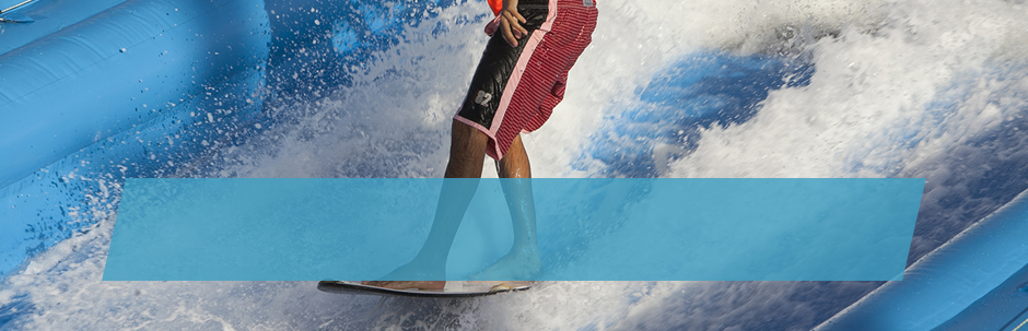 Get surfing on our wave pool, a pioneering initiative in Europe.